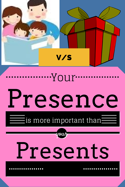 Presents is more important