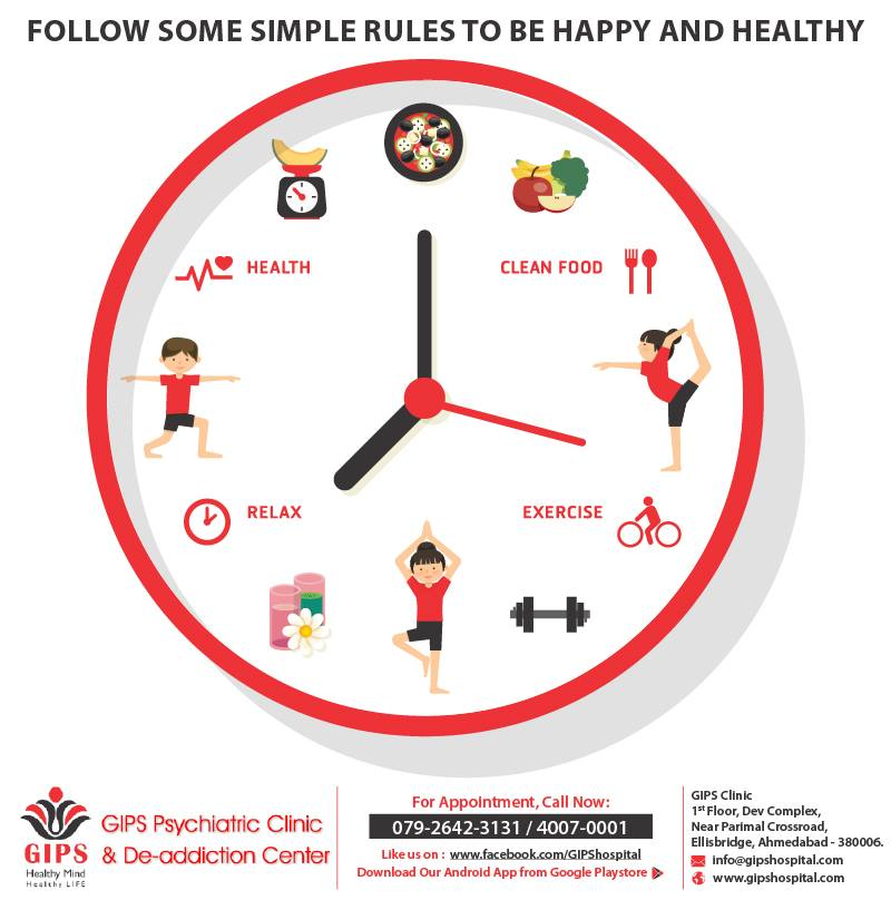 Simple Rules to be happy and healthy