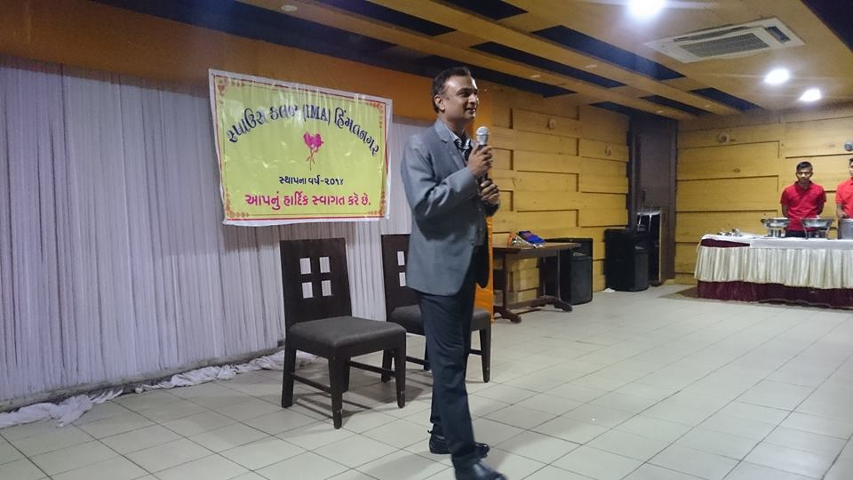 Dr. Himanshu was invited to talk at Spouse club IMA