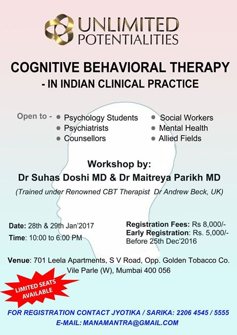 workshop on Cognitive Behaviour Therapy