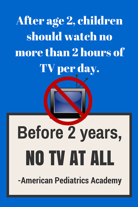 Remember parents, TV is harmful for infants!