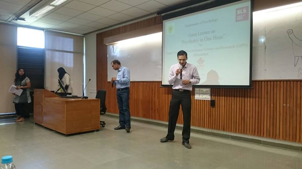 GIPS Team Was invited At PDPU to do a Programm Psychiatry