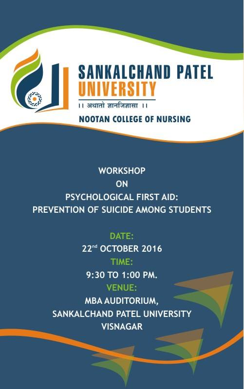 Workshop On psychological First Aid