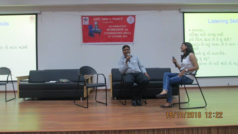 Workshop on Counselling Skills at Hospital For Mental Health, organized by GIPS