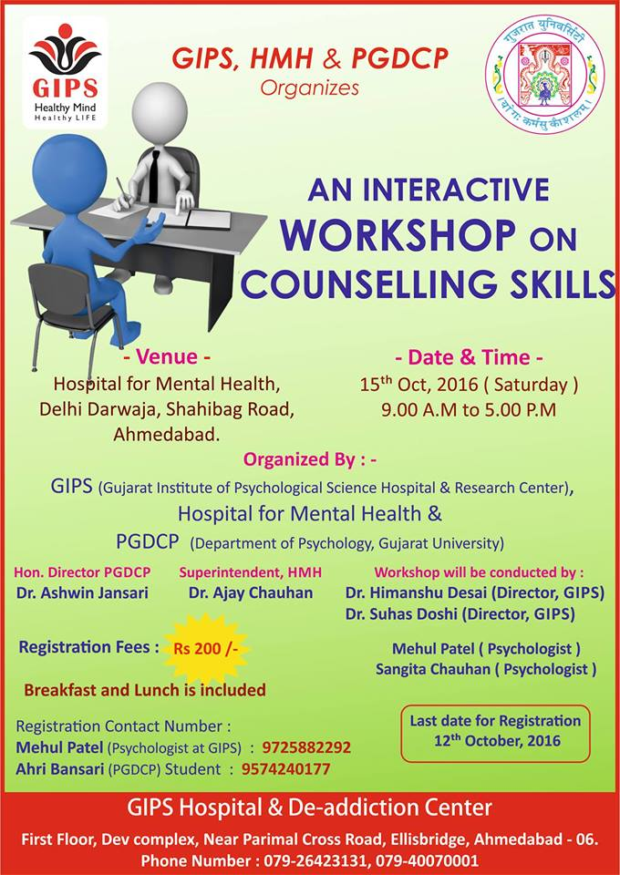 Interactive workshop on Counselling Skills