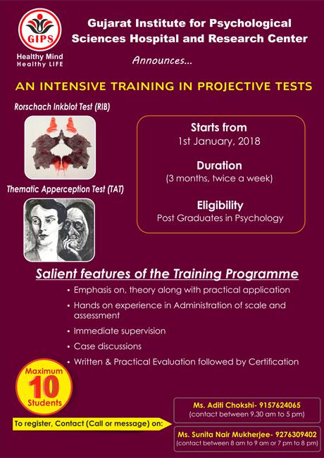 An Intensive Tranning In Projective Test