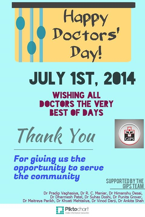 Today, 1st July, is World Doctors' Day